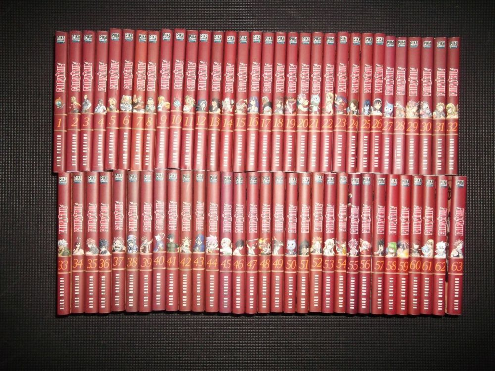 Collection Complete Integrale Mangas Fairy Tail Tomes 1 A 63