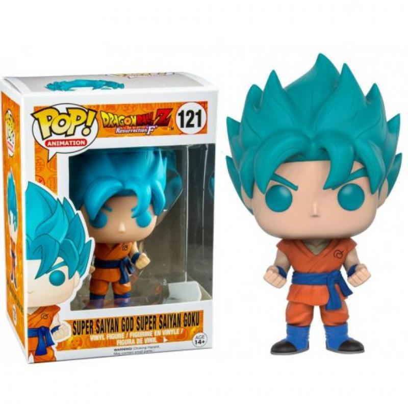 Figurine Pop Dragonball Z Super Saiyan Blue Goku Sur Manga