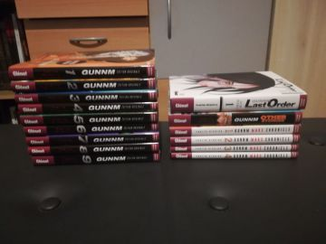 Vends Gunnm 1à 9 , Gunnm last order tome 1 , Gunnm Mars Chronicles tome 1 à 4 et  Gunnm other stories le one Shot