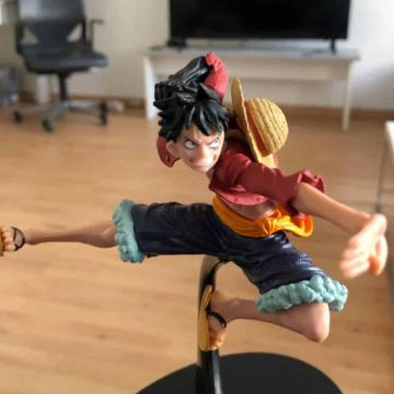 Figurine one piece luffy en pvc 15 cm